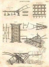 Macchine agricole: Expedition ARATRO; migliorata, trapano HARROW; MARRA; Coltivatore; 1830