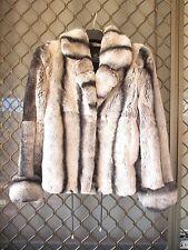 Rex Rabbit Fur Jacket Coat furcoat  sz M/L  soft chinchilla 렉스 토끼  모피 코트 sexy