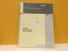 Hp / Agilent 08592-90003 8592A Spectrum Analyzer Installation Manual