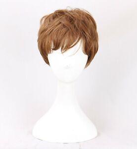 New Mutants Wolfsbane Daily Wear Brown Short Cosplay hair Wig +a wig cap