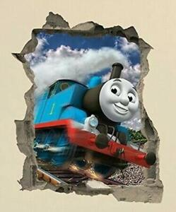 Thomas The Tank Engine in crack Wall Sticker Decal Decor Home Kids Bedroom