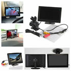 """5"""" TFT-LCD Car Rear View Rearview Monitor With Stand Reverse Backup Camera"""
