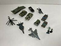 Galoob Micro Machines - Military Lot of 11 Vehicles LGTI, Boats, Helis, Figures