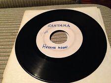"SANTANA SPANISH 7"" SINGLE SPAIN ONE SIDED TEST PRESSING - HAVANA MOON"
