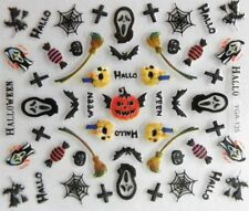 Nailart autocollants stickers ongles scrapbooking Halloween citrouilles croix
