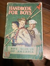 1942 Handbook for Boys Boy Scouts of America Vintage Book Norman Rockwell