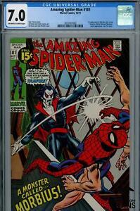 1971 AMAZING SPIDER-MAN #101 MARVEL CGC COMIC 7.0 MORBIUS LIVING VAMPIRE