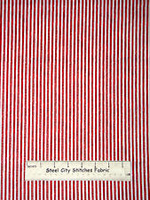 Red White Silver Dot Stripe Cotton Fabric Red Rooster Winter Celebration YARD