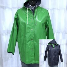 Large - Vintage Green Reversible Classoc Raincoat Slicker Jacket