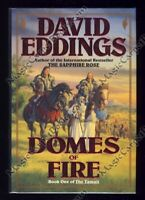 SIGNED David Eddings DOMES OF FIRE Fantasy THE TAMULI Sparhawk FIRST EDITION