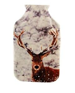 Luxury Christmas Cover & Hot Water Bottle in Box - Stag