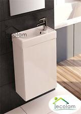 Badmöbel Waschbecken Waschtisch 40 cm hängend Schrank weiß Tür Push To Open YB