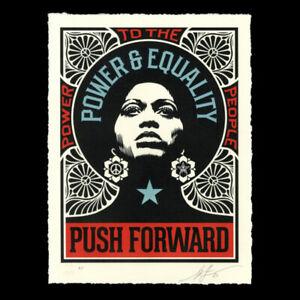 Shepard Fairey Obey Giant Push Forward Art Print Poster Signed LE500 Letterpress