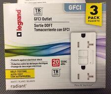 (LOT OF 3) WHITE Seymour Legrand 2097TRW3PKCC4 Gfci Receptacle 20-Amp 125-volt