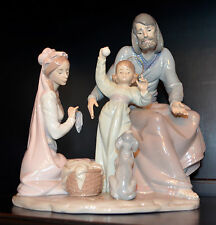 "~Mint in Box~ Rare Lladro ""The Loving Family"" (5848 Hogar de Nazaret) Nativity"