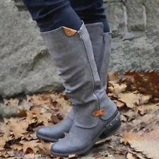 Ladies Casual Side Zipper Martin Boots Mid-Heel Women's Boots