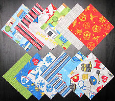 "Truck Car House Fabric 5"" Charm Pack - 24 Squares Wilmington Help Is On The Way"