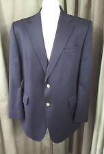 DAKS 100% Wool Navy Gold Button Blazer 42S EXCELLENT CONDITION