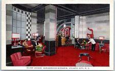 1938 Art Deco Atlantic City Silver Lounge Marlborough-Blenheim Hotel Postcard