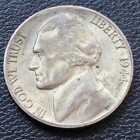 USA 1944 S Jefferson War Nickel 5 Cent Selten Silber UNC #26985