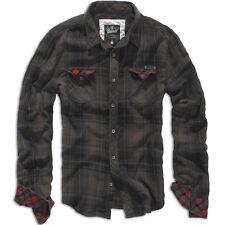 Camicie casual e maglie da uomo a manica lunga in cotone nero