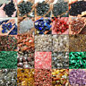 100g Super Natural Colorful Quartz Crystal Stone Rock Chips Small Healing Gravel