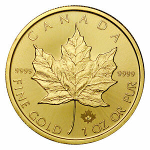 2021 Canada 1 oz Gold Maple Leaf $50 Coin GEM BU
