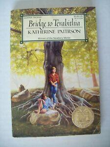 Bridge to Terabithia by Katherine Paterson 1987 1st Harper Trophy Ed. Paperback