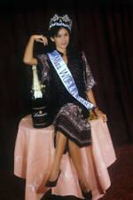 OLD PHOTO MISS WORLD BEAUTY CONTEST winner Kimberley Santos Guam 1980 1