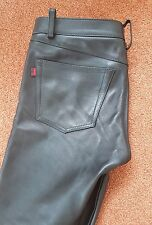 RoB Amsterdam leather jeans  trousers pants W35 / 36  L33