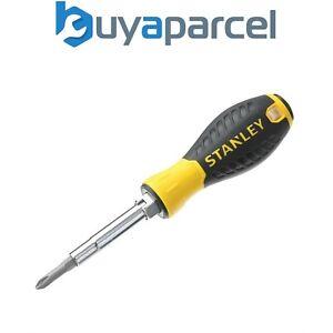 Stanley 6 Piece Screwdriver Multi Bit Set STA068012 0-68-012