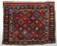 Antique Persian Jaff Kurd Bag Face; Circa 1880; 3-0x 3-8 ft.