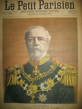 SWEDEN ROI OSCAR II SUEDE ARTILLEUR CANON TUEUR JOURNAL LE PETIT PARISIEN 1900