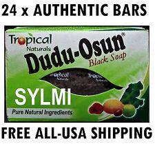 Lot of 24 Bars Pack ORIGINAL Dudu Osun African Black Soap Tropical Rain Forest