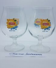 2x 33cl Lipton Ice Tea glasses