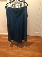 Veronika Maine Teal Wide Leg Culottes Size 14