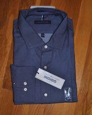 NWT Mens TOMMY HILFIGER Indigo Regular Fit L/S Dress Shirt 2XL 18 1/2 34/35