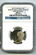 2013 CANADA WAR OF 1812 LAURA SECORD NGC MS67 FS NONCOLORIZED QUARTER TOP POP=5
