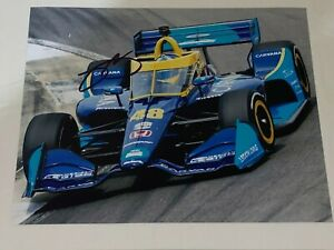 Jimmie Johnson autographed 2021 CARVANA INDY HONDA ALLY 8x10 RACING ACTION photo