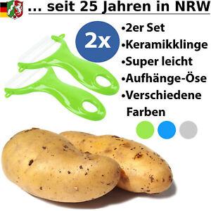 Sparschäler Schäler Keramikschäler Gemüseschäler Obstschäler Obst Gemüse 2er Set