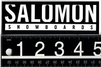 SALOMON SNOWBOARDS STICKER Salomon Snowboards 5 in x 1.75 in Blk/Wht Ski Decal