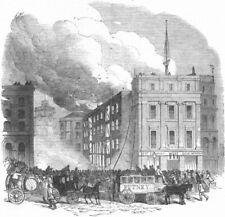 LONDON. Distructive fire, Tooley St, Southwark, , antique print, 1851