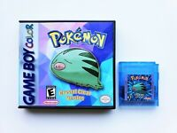 Pokemon Crystal v 2.1.2 Clear Game / Case Nintendo Gameboy Color Advance GBC GBA