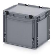 Transportbehälter 40x30x33,5 mit Deckel Kunststoff*Transportcase*Box*400x300x335