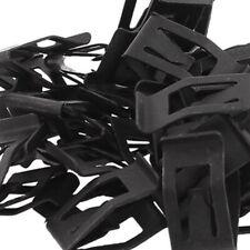 10x Black Auto Car Front Console Dash Dashboard Trim Metal Retainer Accessories