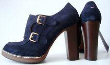 TOMMY HILFIGER Stiefelette Damen Ankle Boots Leder Schuhe Cukka Navy Gr.39 NEU