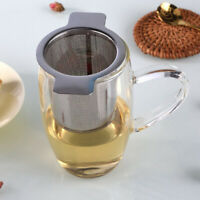 1 Set Stainless Steel Mesh Tea Infuser Cup Strainer Loose Leaf Filter with Lid4H