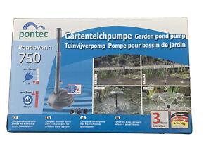 Pontec PondoVario 750 Fountain Pond Pump Compact Water Feature Fish Koi Garden,