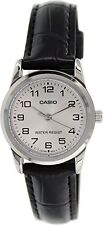 Casio Women's  Black Leather Quartz Watch LTPV001L-7B