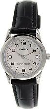 Casio Women's  Black Leather Quartz Watch LTPV001L-7B